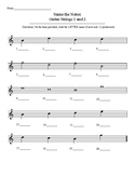 Name Notes: Strings 1 and 2 (guitar)