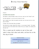 Name-O: First Day of School Name Bingo