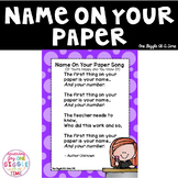 Name On Your Paper Song