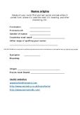 Name Origins Research Worksheet