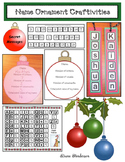 Christmas Craft Name Ornaments Laced With Christmas Math