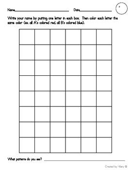 Name Pattern Chart