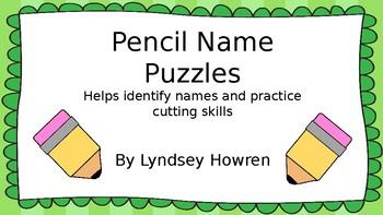 Name Pencil Puzzle