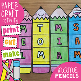 Name Pencils Craft Activity