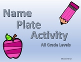 Name Plate Activity