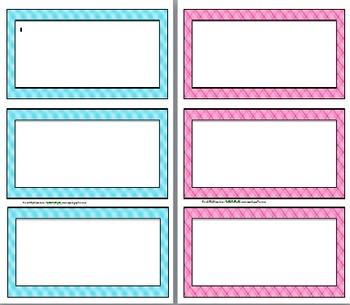 Name Plate / Desk Labels --> Plaid Theme