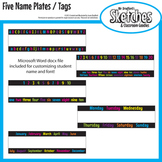 Name Plate / Desk Tag Variety Pack ABC's, 123's, Days of the Week, or Months