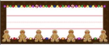 Name Plate (Gingerbread Cookie theme)