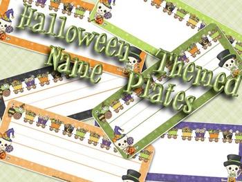 Name Plate (Halloween Theme)