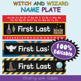 Name Plate Labels in Witch & Wizard Theme - 100% Editable