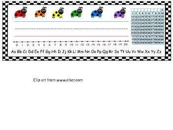 Name Plate: Ladybug theme