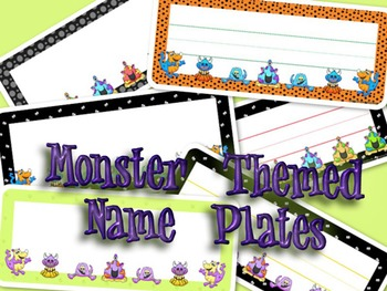 Name Plate (Monster theme)