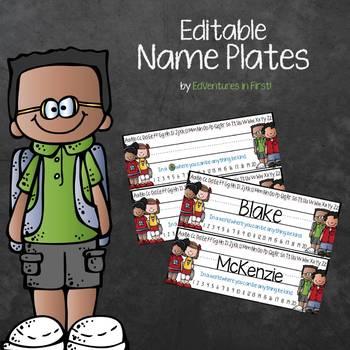 Name Plate Templates - Editable