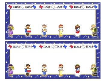Name Plate (Texas theme)