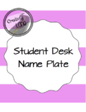 Name Plate for Student Desk