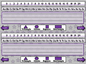 Name Plate for Student Desk (includes number line) Superstars Theme King Virtue