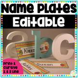 Name Plates for Desks Editable
