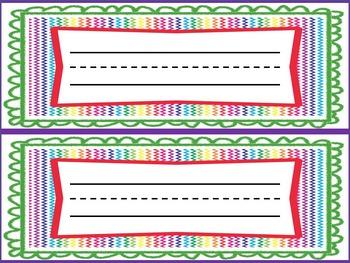 Rainbow Name Plates