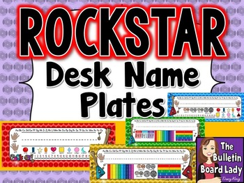 Name Plates Rock Star Theme