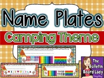 Name Plates Camping Theme