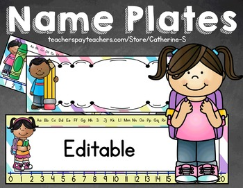 Name Plates Back to School