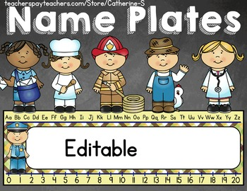 Name Plates Community Helpers