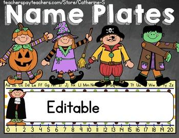 Editable Name Plates