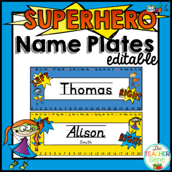 Super Hero Name Plates