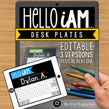 iPad Name Tags: Editable