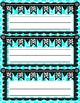 Aqua Name Plates, Bulletin Board Labels, or Word Wall Headings