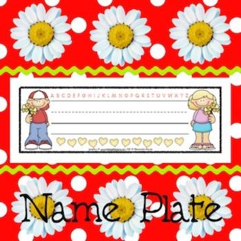 Name Plates: 6 Holidays/Seasonal #1 - Modifiable PDFs