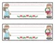 Name Plates: 6 Holidays/Seasonal #2 - Modifiable PDFs