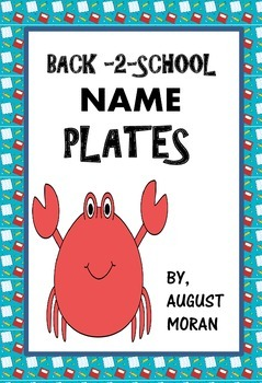 Name Plates! Back to School!