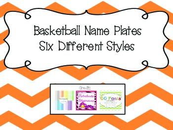 Name Plates- Basketball