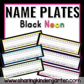 Name Plates {Black Neon}