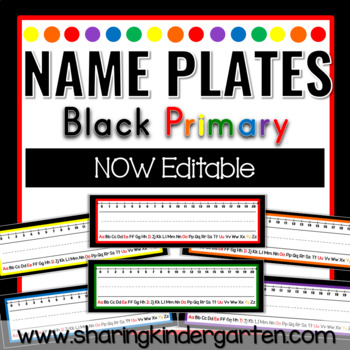 Name Plates {Black Primary} NOW EDITABLE
