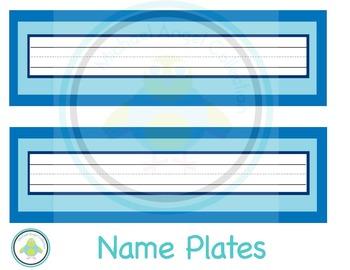 Name Plates Blue Theme