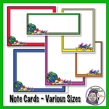 Name Plates, Boarderd, and Notecards - Clip Art Bundle