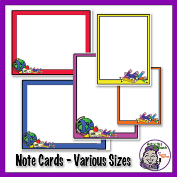 Name Plates, Boarderd, and Notecards - Printables