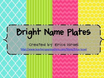 Name Plates - Bright Color Theme