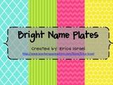 Name Plates - Bright Color Theme