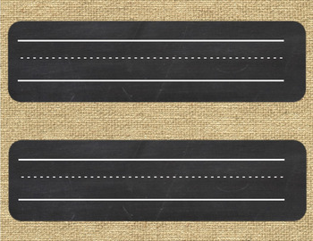 Name Plates {Burlap and Chalkboard}