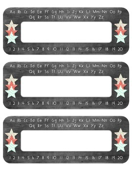 Name Plates - Chalkboard