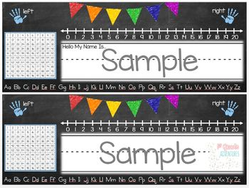 Name Plates- Chalkboard Banners