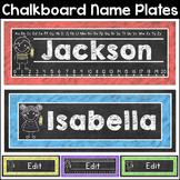 Chalkboard Theme Name Plates Classroom Decor