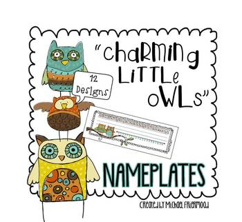 Name Plates {Charming Little Owls}