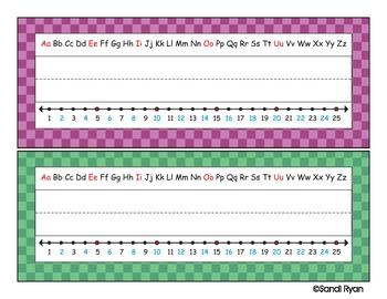 Name Plates - Checkered