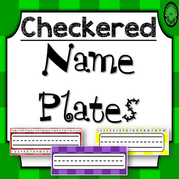 Editable Name Plates ~ Checkered