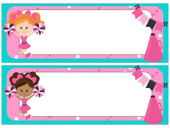 Name Plates : Cheer Power!!