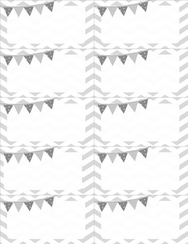 Name Tags - Chevron Labels